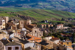 Cammarata, Sicily, Italy in valley Stock Photography
