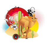 Cammel cartoon illustration vector Royalty Free Stock Image