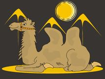 Cammello nel deserto Royalty Illustrazione gratis