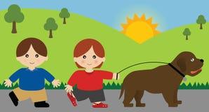 Cammina il cane Illustrazione di Stock