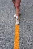 Cammina la linea retta Immagini Stock