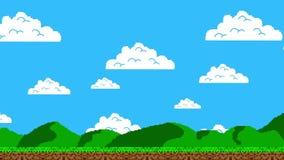 Camminando attraverso il livello della piattaforma di Arcade Video Game illustrazione vettoriale