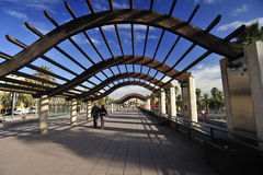 Camminando a Barcellona Fotografia Stock Libera da Diritti