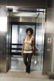 Camminando dall'elevatore 01 Fotografie Stock