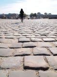 Camminando davanti al chateau de Versailles Francia Immagini Stock Libere da Diritti