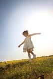 Camminando giù la collina Fotografie Stock