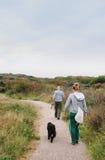 Camminando il cane Fotografie Stock