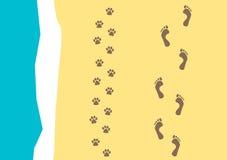 Camminando il reticolo del cane Fotografie Stock Libere da Diritti