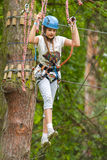Camminando la corda per funamboli Fotografia Stock