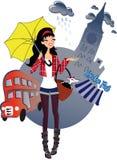 Camminando a Londra illustrazione vettoriale