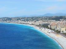 Camminando lungo la costa di Nizza Immagine Stock