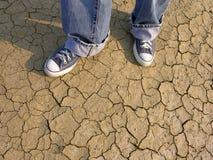 Camminando nel deserto fotografie stock libere da diritti