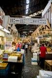 Camminando nel mercato ittico Giappone di Tsukiji Fotografia Stock