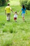 Camminando nella foresta Immagini Stock Libere da Diritti