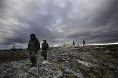 Camminando nella tundra Immagini Stock