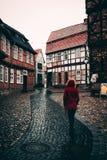 Camminando in Quedlinburg, la Germania orientale Fotografia Stock Libera da Diritti