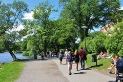 Camminando su Kungsholmen Fotografia Stock Libera da Diritti