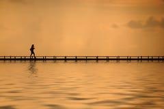 Camminando sull'acqua Fotografie Stock
