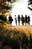 Camminando sulla mattina Fotografia Stock Libera da Diritti