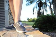Camminando sulla pietra Fotografie Stock