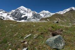 Camminando sulle alpi in Italia immagini stock
