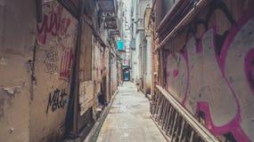 Camminando tramite portone nascosto Immagini Stock