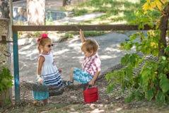 Camminano i bambini Fotografia Stock Libera da Diritti