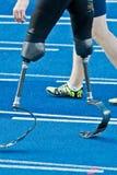 Camminare andicappato dello sprinter fotografie stock libere da diritti