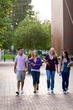 camminare degli allievi Fotografia Stock