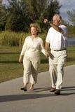 Camminare degli anziani Fotografie Stock Libere da Diritti