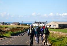 Camminare degli anziani. Fotografia Stock