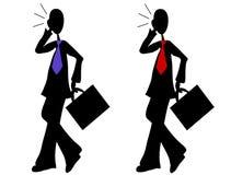 Camminare degli uomini d'affari del fumetto Fotografia Stock