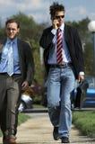 Camminare degli uomini di affari Fotografia Stock Libera da Diritti