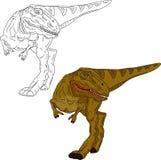 Camminare del dinosauro Fotografia Stock Libera da Diritti
