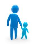Camminare del figlio e del padre royalty illustrazione gratis