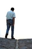 Camminare dell'uomo Fotografia Stock Libera da Diritti