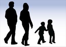 Camminare della famiglia illustrazione di stock