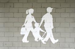 Camminare della famiglia immagini stock