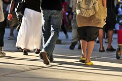 camminare della gente Fotografie Stock