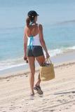 Camminare della spiaggia fotografie stock