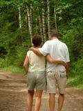 Camminare delle coppie Fotografie Stock