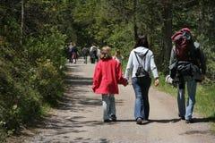 Camminare delle famiglie Fotografia Stock Libera da Diritti