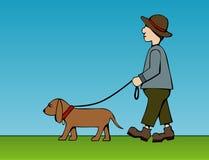 Camminare fuori l'animale domestico Fotografia Stock