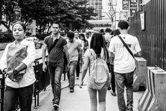 Camminare occupato Fotografia Stock