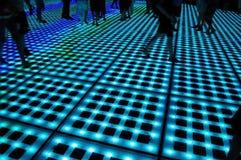 Camminata al neon Fotografia Stock Libera da Diritti