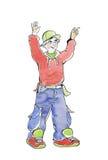 Camminata allegra dell'adolescente illustrazione vettoriale