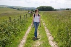 Camminata andante del paese del nemico Fotografia Stock Libera da Diritti
