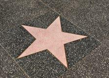 Camminata in bianco della stella di fama Fotografia Stock Libera da Diritti