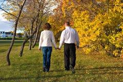 Camminata con l'autunno Fotografie Stock Libere da Diritti