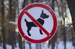 Camminata dei cani vietati Immagini Stock Libere da Diritti